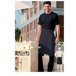 Picture of Pv Half Apron With Pocket Black
