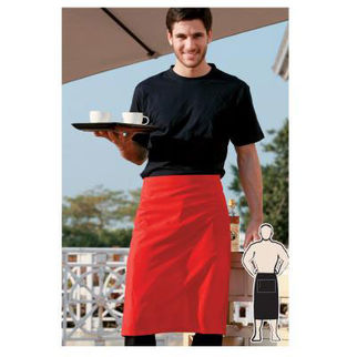 Picture of Pv Three Quarter Apron Without Pocket  Red