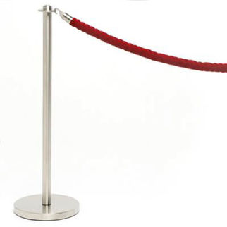 Picture of Queuing Stanchion In Brushed Finish