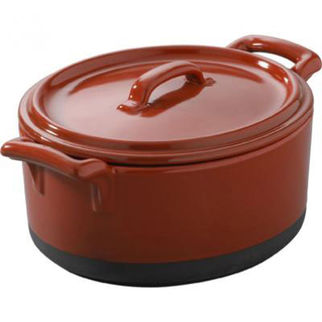 Picture of Revol Eclipse Oval Casserole Dish With Lid Red 1L