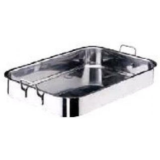 Picture of Roast Pan 18 10 610x430x90 W 2 Fixed Hdl Heavy Paderno