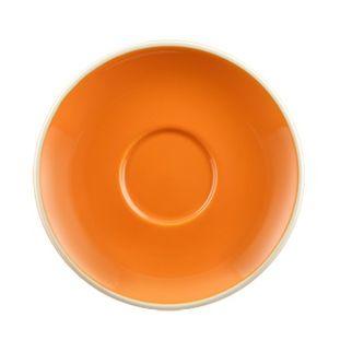 Picture of Rockingham Long Black Saucer Orange