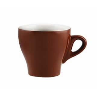 Picture of Rockingham Tulip Long Black Cup Brown 175ml