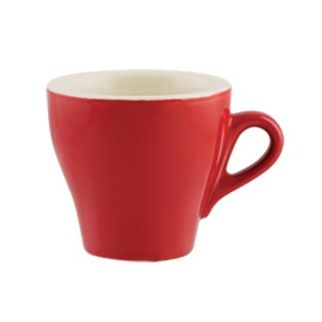 Picture of Rockingham Tulip Long Black Cup Red 175ml