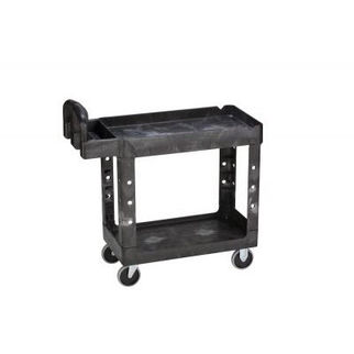 Picture of Rubbermaid Hd Utility Cart With 65mm Lipped Shelf Black
