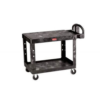 Picture of Rubbermaid Hd Utility Cart With Flat Shelf Black