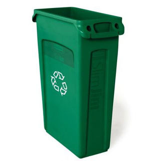 Picture of Rubbermaid Slim Jim With Venting Channels Recycling Green Green