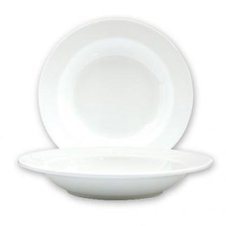 Picture of Ryner Bone China Soup Pasta Plate Wide Rim 230mm