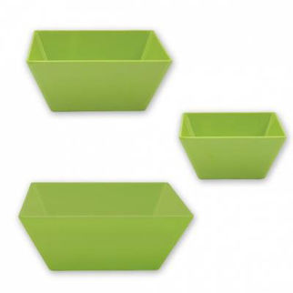 Picture of Ryner Melamine Square Bowl Lime 300x300mm