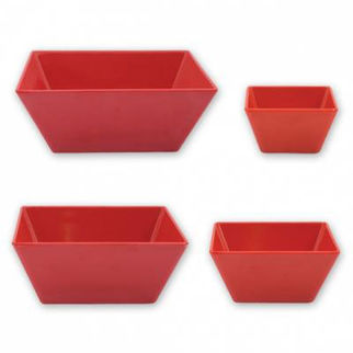 Picture of Ryner Melamine Square Bowl Red 70x70mm