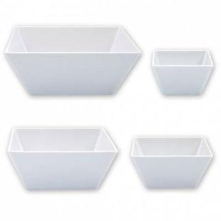 Picture of Ryner Melamine Square Bowl White  130x130mm