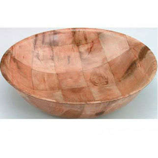 Picture of Salad Bowl Round Woven Wood 150mm