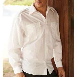 Picture of Service Shirt Long Sleeve White(M)