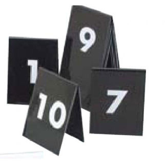 Picture of Set Of Table Nos 61 To 70 White Text On Black 75x55mm