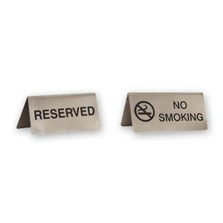 Picture of No Smoking Sign Stainless Steel A Frame