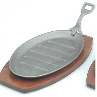 Picture of Steak Sizzler Cast Iron 290x180mm Grey Finish With Handle