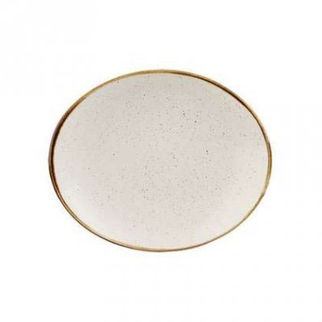 Picture of Stonecast Oval Plate 192mm Barley White