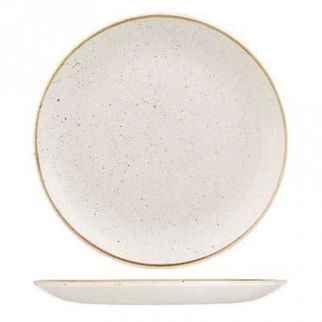 Picture of Stonecast Round Coupe Plate 260mm Barley White
