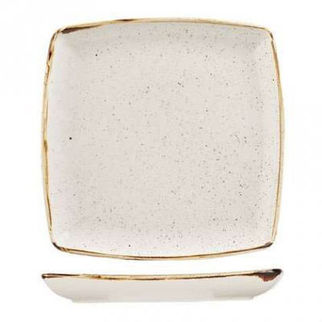 Picture of Stonecast Square Plate Deep 268mm Barley White