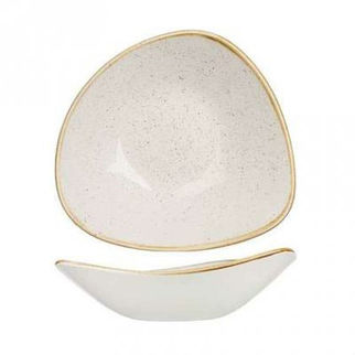 Picture of Stonecast Triangular Bowl 230mm Barley White
