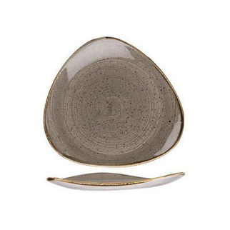 Picture of Stonecast Triangular Plate 229mm Peppercorn Grey