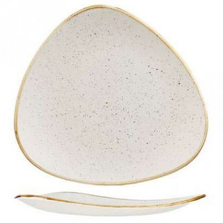 Picture of Stonecast Triangular Plate 260mm Barley White