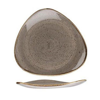 Picture of Stonecast Triangular Plate 260mm Peppercorn Grey