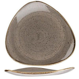 Picture of Stonecast Triangular Plate 300mm Peppercorn Grey