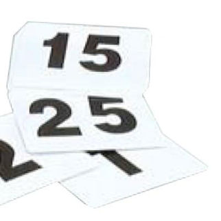 Picture of Table Number Set 1 To 100 Black On White