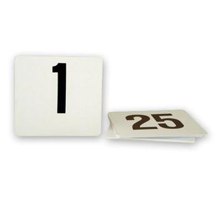 Picture of Table Number Set 1-200 Black on White