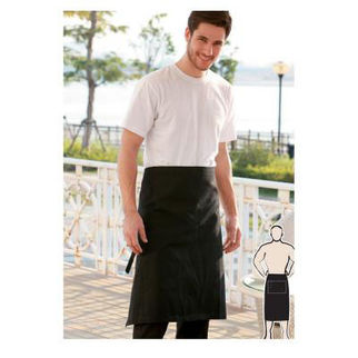 Picture of Three Quarter Apron Without Pocket  Black
