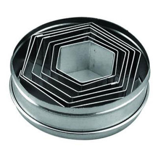 Picture of Tin Hexagon Cutters 6pc 45-95mm