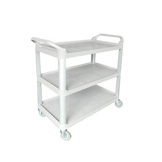 Picture of Utility Trolley Cart 3 Shelf Grey Grey 1020x500x960mm