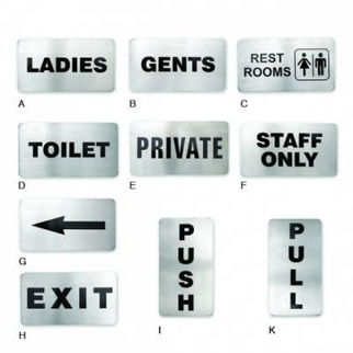 Picture of Wall Sign 18 10 110x60mm Toilet Signs staff only