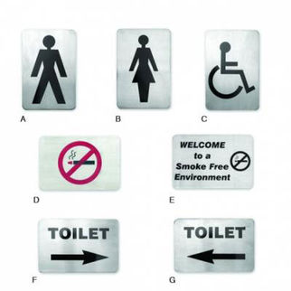 Picture of Wall Sign 18/10 120x80mm  no smoking