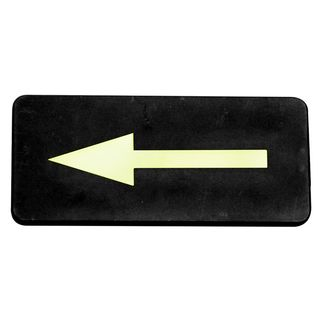 Picture of Wall Sign Arrow Symbol Gold On Black