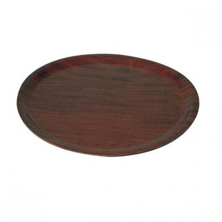 Picture of Wood Tray Round mahogany 435mm
